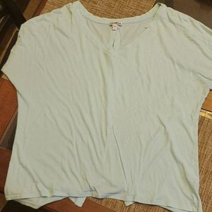 Express button up back T